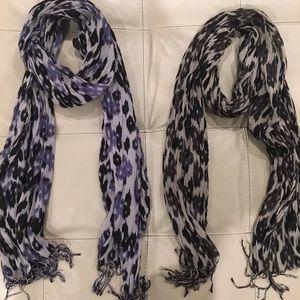 John Varvatos leopard scarves. Set of 2 scarves